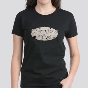 """""""Operations Diva"""" [brown] Women's Dark T-Shirt"""